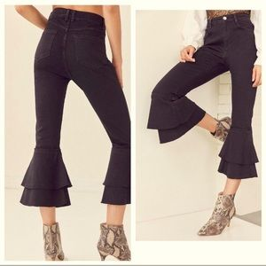 UO BDG Flare Cropped Highrise Jeans